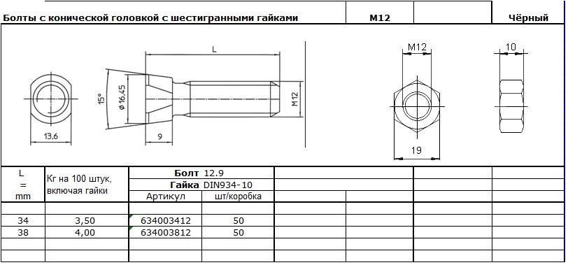 БОЛт М12к2