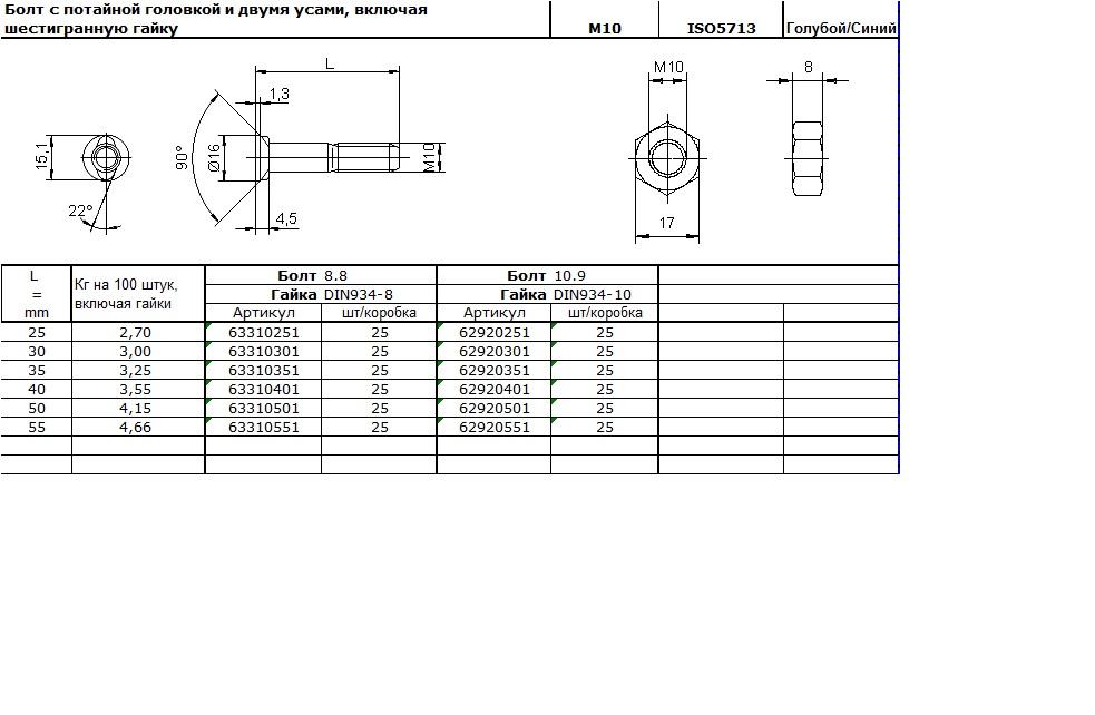 ISO 5713 m10